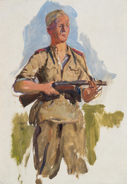 Солдат с автоматом