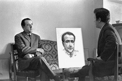 За работой над портретом Луиджи Ольдани, генерального секретаря Ла Скала