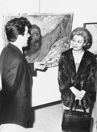Илья Глазунов и Джульетта Мазина на выставке в галерее Ла Нуова Пеза