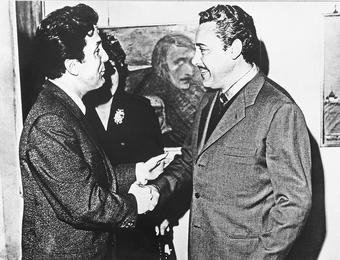 Марио дель Монако на выставке Ильи Глазунова