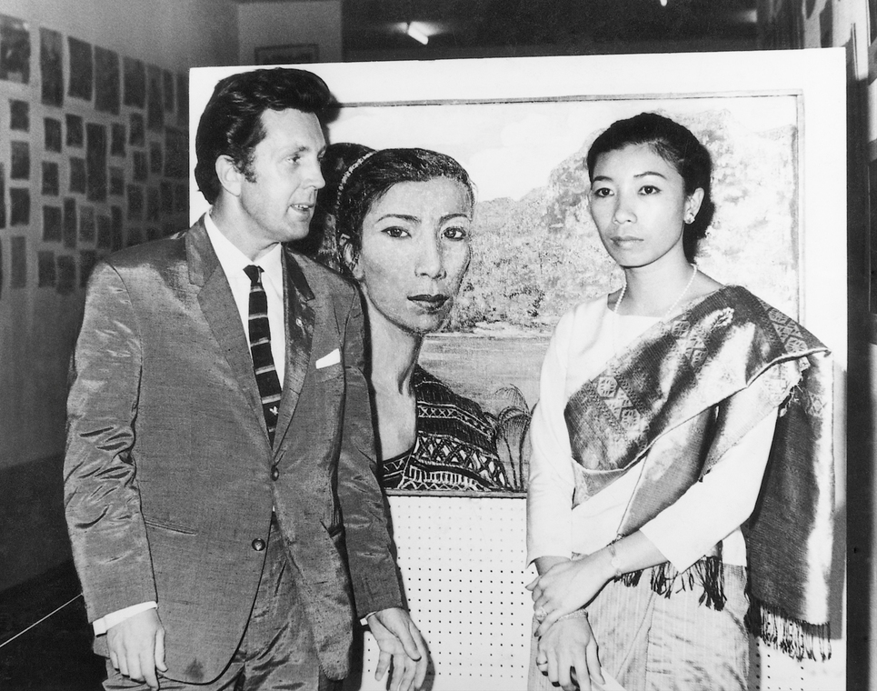 Илья Глазунов с дочерью премьер-министра принцессой Лаоса Мун Суванно Фумой