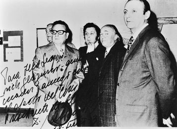 Президент Чили Сальвадор Альенде на выставке Ильи Глазунова