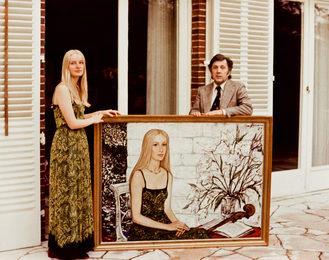 Илья Глазунов после написания портрета Коринны Понто, дочери руководителя Дрезднер банка Юргена Понто