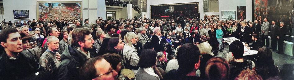 Обсуждение выставки в московском Манеже
