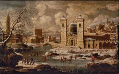 Г.Ванвителли (1653-1736). Зима. Из цикла «Времена года». Рубеж XVII-XVIII века