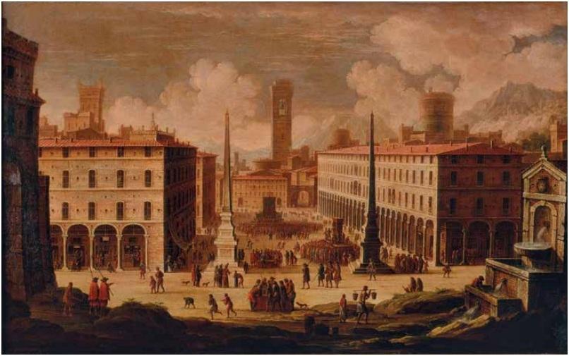 Г.Ванвителли (1653-1736). Осень. Из цикла «Времена года». Рубеж XVII-XVIII века