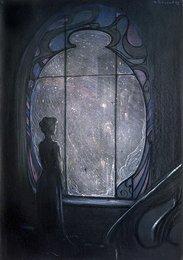 У окна. Иллюстрация к стихотворению А.А. Блока «Ты была у окна…»
