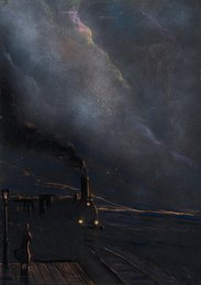 Вечер. Иллюстрация к стихотворению А.А. Блока «Уж вечер светлой полосою…»