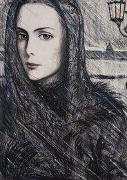 Женский образ. Иллюстрация к стихотворению А.А. Блока «Снежная вязь» из цикла «Снежная маска»
