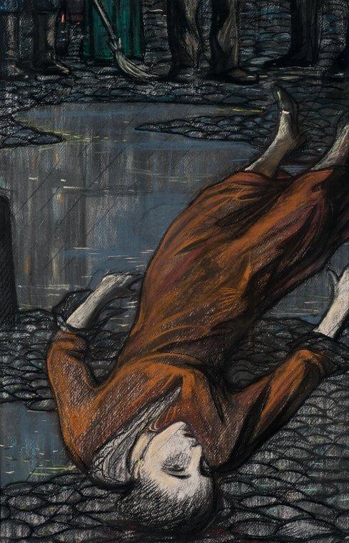 Самоубийца. Иллюстрация к стихотворению А.А. Блока «Повесть». Г. Чулкову