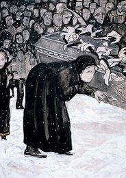 Старуха у гроба. Иллюстрация к стихотворению А.А. Блока «Целый год не дрожало окно». Андрею Белому