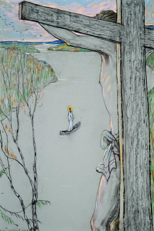 Христос! Родной простор печален! Иллюстрация к стихотворению А.А. Блока «Осенняя любовь»