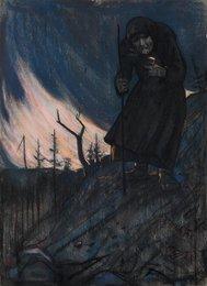 Странница. Иллюстрация к стихотворению А.А. Блока «Старушка и чертенята»