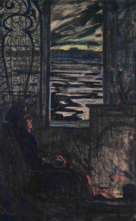 У камина. Иллюстрация к стихотворению А.А. Блока «Одиночество»