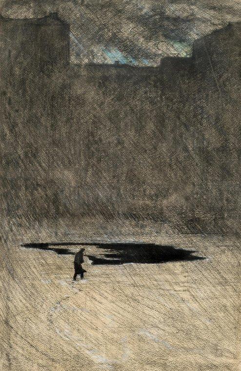 Прорубь. Иллюстрация к стихотворению А.А. Блока «Обреченный»