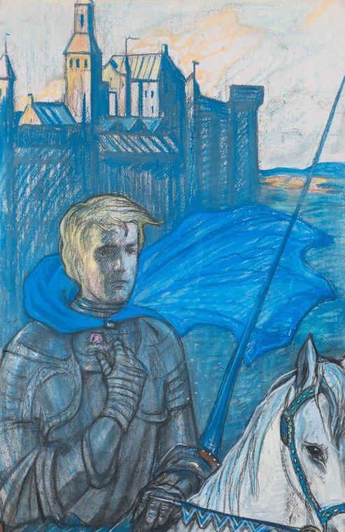 Рыцарь. Иллюстрация к стихотворению А.А. Блока «Так окрылено, так напевно…»