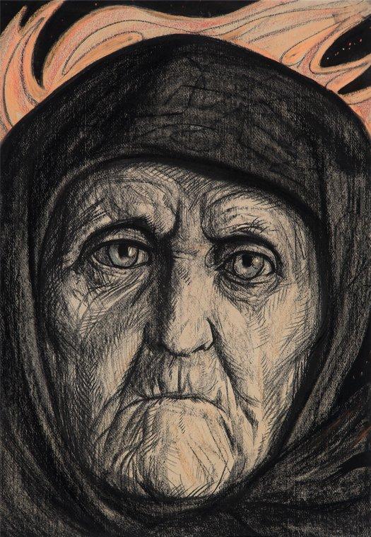 Старушка. Иллюстрация к стихотворению А.А. Блока «Старушка и чертенята»