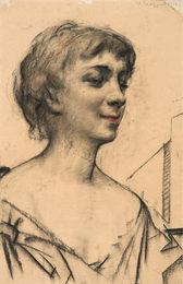 Портрет французской актрисы Зани Кампан