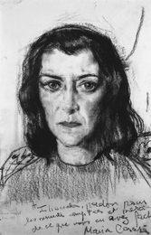 Портрет французской актрисы Марии Казарес