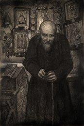 Старец Зосима в келье