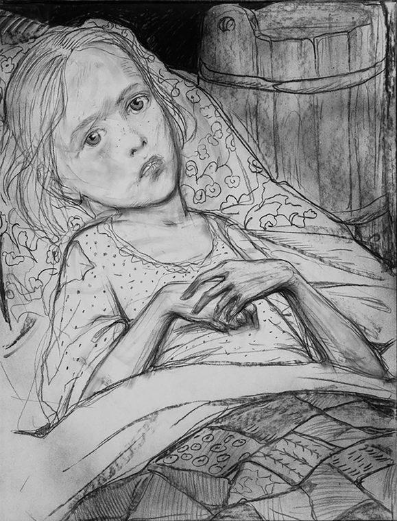 Больная девочка Васенка